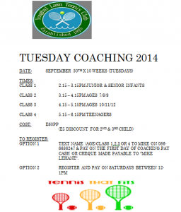 Tues coaching 2014